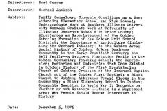 Bert Casper Interview Page 1