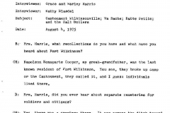 Grace and Harley Harris Interview Page 1
