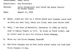 Mabel Davis Interview Page 1