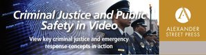 Criminal Justice and Public Safety in Video Logo