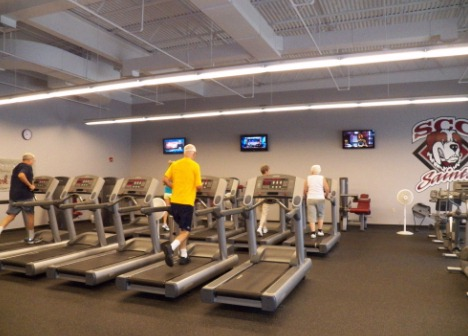 Anna Extension Center Fitness Center inside view